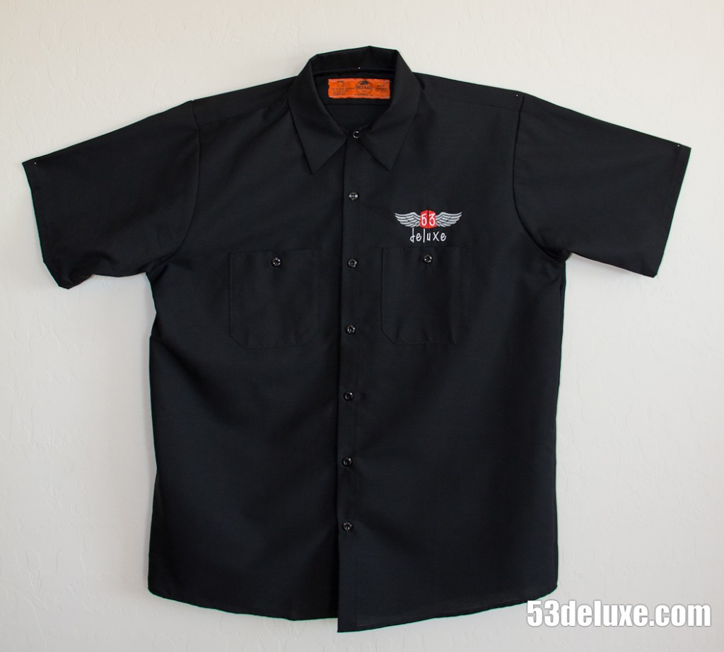 53deluxe work shirts t shirts 53deluxe for Embroidered work shirts online
