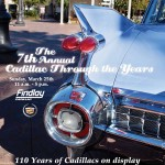 Cadillac Through the Years, Sunday, March 25th
